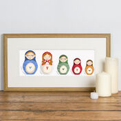 Deluxe Russian Doll Family Personalised Print