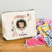 Personalised Illustrated 'This Girl' Make Up Bag For Teenagers