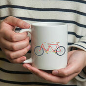 Illustrated Bicycle Mug