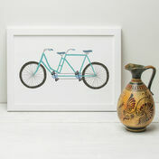 Tandem Bike Illustrated Print