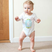 Boy's Initial Illustrated Baby Grow