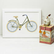 Vintage Bicycle Illustrated Print