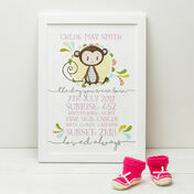 'The Day You Were Born' Personalised New Baby Print