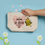 Personalised Bee-utiful Make Up Bag For Mum