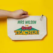 Personalised Super Teacher Pencil Case