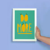 'Do More' Illustrated Print by James Cluer