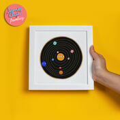Illustrated Retro Planets Print by James Cluer