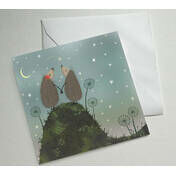 Hedgehugs 'Shooting Star' Greetings Card