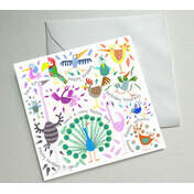 Happy Birdday Illustrated Birthday Card