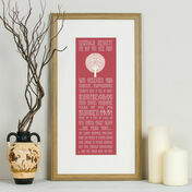 90th Birthday 'The Day You Were Born' Special Edition Personalised Print