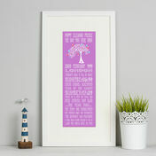 16th Birthday 'The Day You Were Born' Special Edition Personalised Print