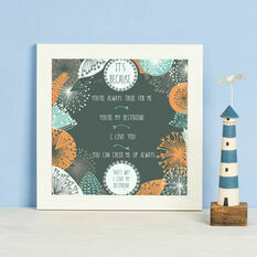 It's Because Personalised Print