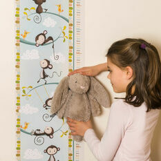 Personalised Illustrated Monkey Height Chart