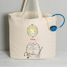 Personalised Illustrated 'This Girl' Tote Bag For Her