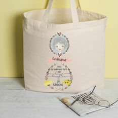 Personalised Illustrated 'This Girl' Tote Bag For Grandma
