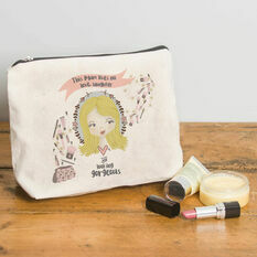 Personalised Illustrated 'This Girl' Make Up Bag For Mum