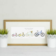 Personalised Family Bicycle Print