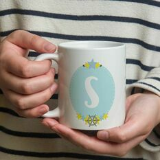 Boy's Initial Illustrated Mug