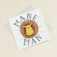 'Mane Man' Greetings Card For Dad/Men