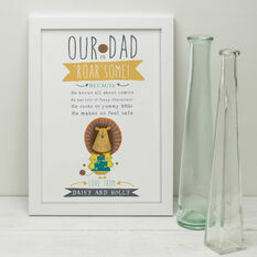 'Our Dad Is Roar Some' Personalised Print For Fathers