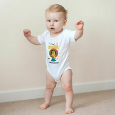 Personalised 'My Dad is Roar Some' Baby Grow
