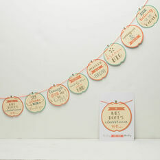 Personalised 'Class Rules' Bunting Gift For Teachers