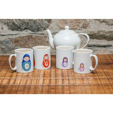 Russian Doll Mugs - Family Set