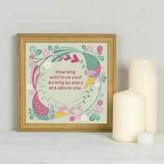 Our Song Personalised Framed Print