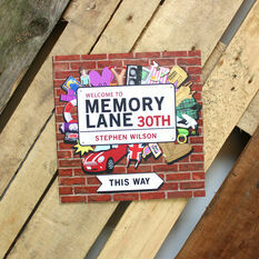 Personalised 30th Birthday Book 'Memory Lane'