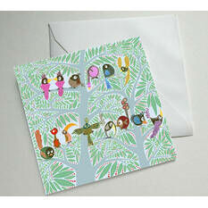 Birdy Birthday Illustrated Birthday Card
