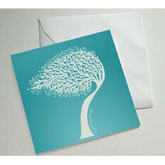 Cornish Tree Illustrated Greetings Card