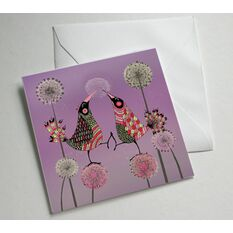 Love Birds Illustrated Greetings Card