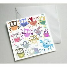 Owl Illustrated Greetings Card