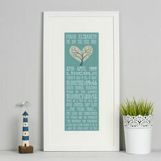 21st Birthday 'The Day You Were Born' Special Edition Personalised Print