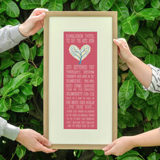 60th Birthday 'The Day You Were Born' Special Edition Personalised Print