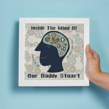 Inside A Man's Mind Personalised Print