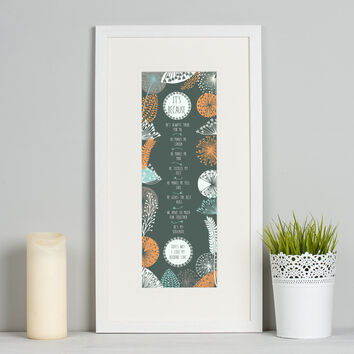 It's Because Deluxe Personalised Print