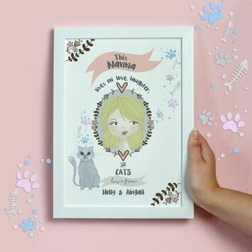 Personalised Illustrated 'This Girl' Print For Grandma