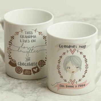 Personalised Illustrated 'This Girl' Mug For Grandma