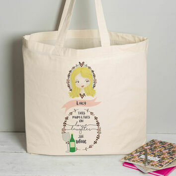 Personalised Illustrated 'This Girl' Tote Bag For Mum