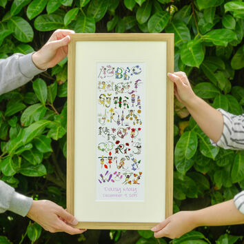Fairy Alphabet Personalised Print