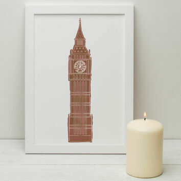 Big Ben Illustrated Print