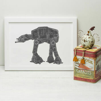 Star Wars AT-AT Illustrated Print