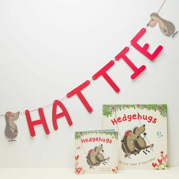 Personalised Hedgehugs Themed Bunting
