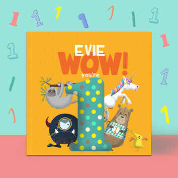 \'Wow You\'re One\' 1st Birthday Children\'s Book