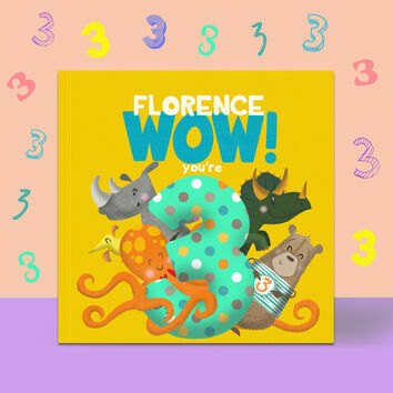 \'Wow You\'re Three\' 3rd Birthday Children\'s Book