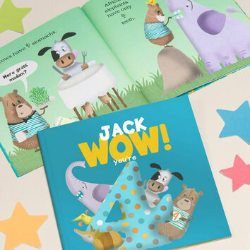 'Wow You're Four' 4th Birthday Children's Book
