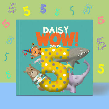 \'Wow You\'re Five\' 5th Birthday Children\'s Book