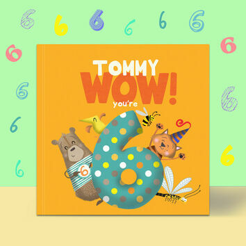\'Wow You\'re Six\' 6th Birthday Children\'s Book