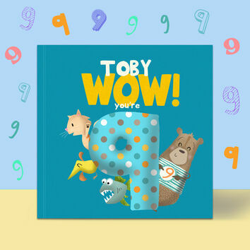 \'Wow You\'re Nine\' 9th Birthday Children\'s Book